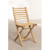 Cadeira de jardim dobrável em bambu da Marilin, imagem miniatura 2