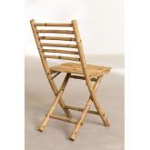 Cadeira de jardim dobrável em bambu da Marilin, imagem miniatura 4