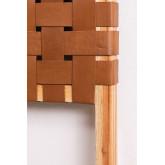 Cabeceira de couro e madeira Zaid para cama de 150 cm, imagem miniatura 4