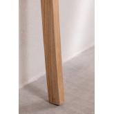 Cabeceira de couro e madeira Zaid para cama de 150 cm, imagem miniatura 5