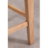Banquinho de madeira e couro Zaid, imagem miniatura 5