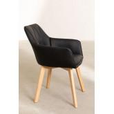 Pacote de 2 cadeiras de jantar estofadas estilo Marh , imagem miniatura 3
