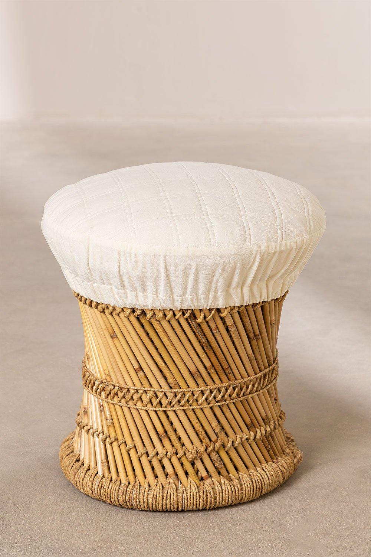Banquinho baixo de bambu Thëss, imagem de galeria 1