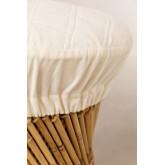 Banquinho baixo de bambu Thëss, imagem miniatura 2