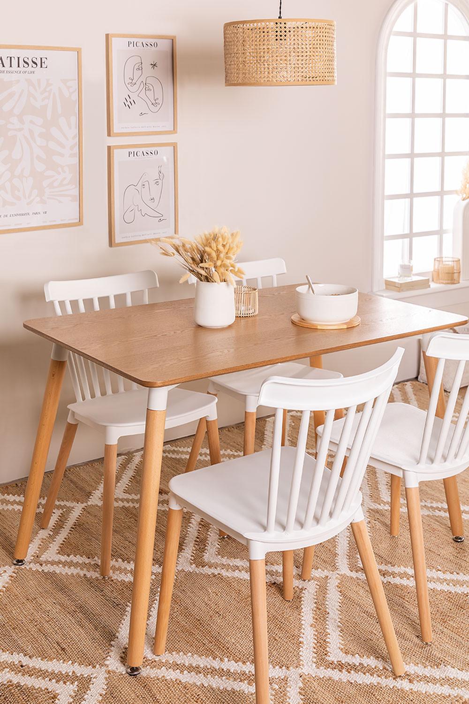 Mesa de jantar de madeira (120x80 cm) Royal Natural Design, imagem de galeria 1