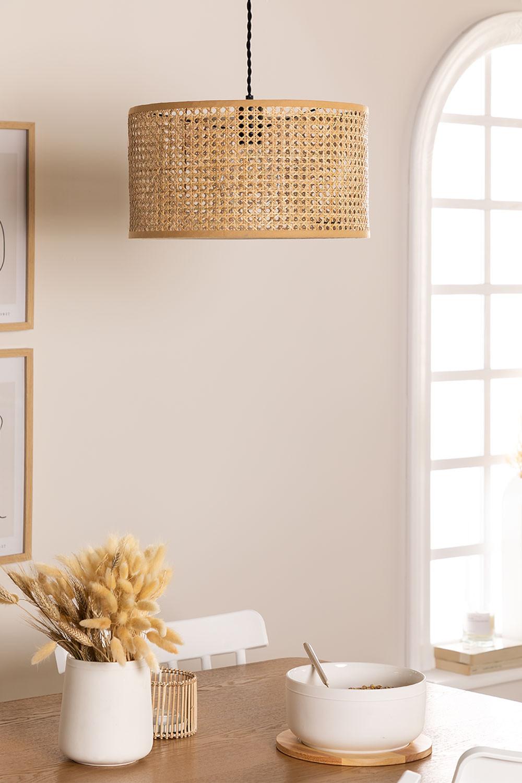 Candeeiro de tecto em Rattan Serri, imagem de galeria 1