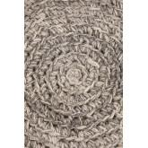 Banco Rixar baixo redondo de lã e madeira , imagem miniatura 4