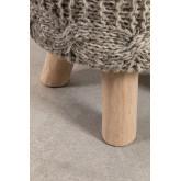 Banco Rixar baixo redondo de lã e madeira , imagem miniatura 5