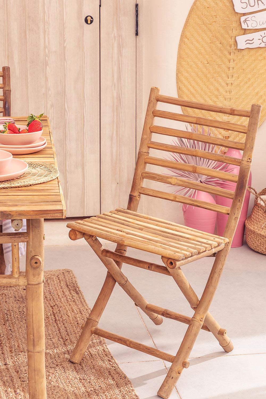 Cadeira de jardim dobrável em bambu da Marilin, imagem de galeria 1