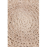 Banco redondo de lã e madeira Jein, imagem miniatura 4