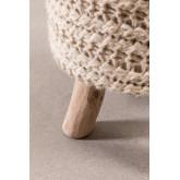 Banco redondo de lã e madeira Jein, imagem miniatura 5
