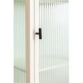 Vitrine de 1 porta em metal e vidro Vertal, imagem miniatura 6