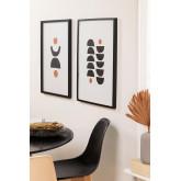 Conjunto de 2 Quadros Decorativos (50x70 cm) Piet, imagem miniatura 1