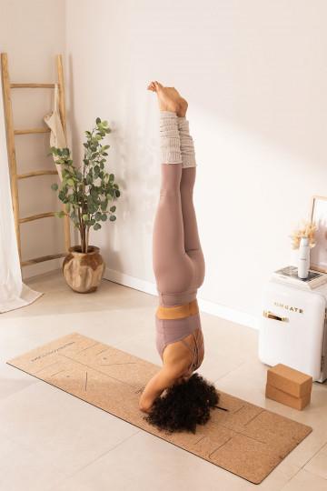 Tapete de ioga de pontos de posição namaste