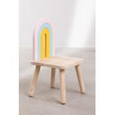 Cadeira de madeira para crianças Mini Rainbow, imagem miniatura 3