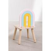 Cadeira de madeira para crianças Mini Rainbow, imagem miniatura 4