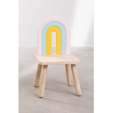 Cadeira de madeira para crianças Mini Rainbow, imagem miniatura 5
