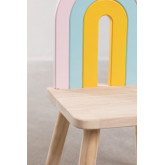 Cadeira de madeira para crianças Mini Rainbow, imagem miniatura 6