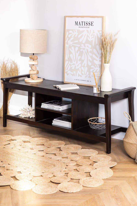 Gabinete de TV de madeira teca Milen, imagem de galeria 1