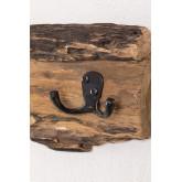 Cabide de parede de madeira reciclada trunc, imagem miniatura 979324