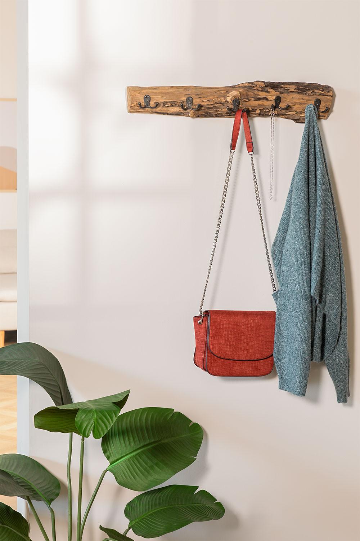 Cabide de parede de madeira reciclada trunc, imagem de galeria 979342