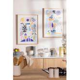 Conjunto de 2 laminados decorativos (50x70 cm) Zity, imagem miniatura 1