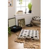 Almofada de piso de algodão quadrada Barry, imagem miniatura 1