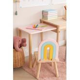 Cadeira de madeira para crianças Mini Rainbow, imagem miniatura 2