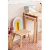 Cadeira de madeira para crianças Mini Rainbow, imagem miniatura 1