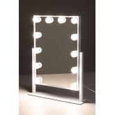 Espelho de maquiagem com luz led hollywood , imagem miniatura 1