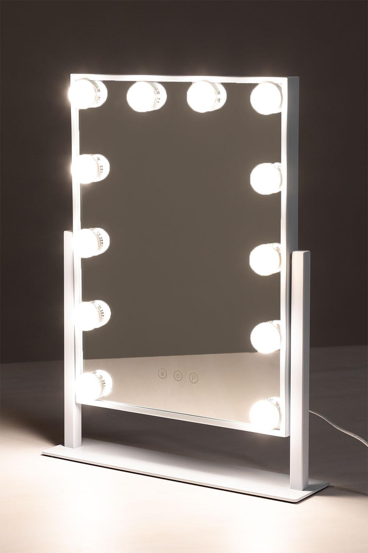 Espelho de maquiagem com luz led hollywood , imagem de galeria 1