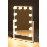 Espelho de maquiagem com luz led hollywood , imagem miniatura 3