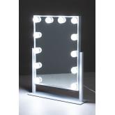 Espelho de maquiagem com luz led hollywood , imagem miniatura 4