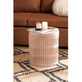 Blaci mesa lateral redonda de cerâmica, imagem miniatura 1