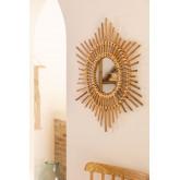 Espelho de parede redondo de bambu (66x66 cm) Etual, imagem miniatura 1
