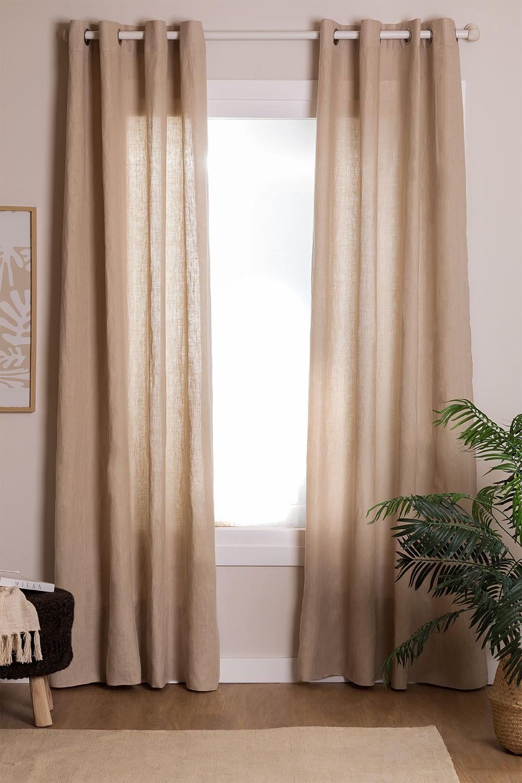Cortina de linho (140x260 cm) Widni, imagem de galeria 1