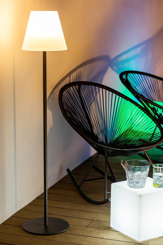 Llahra Solar Outdoor Floor Lamp, imagem de galeria 1