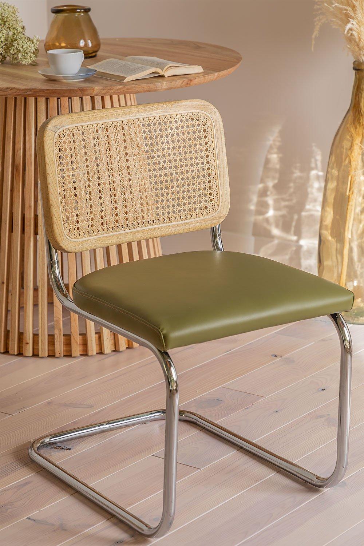 Cadeira de jantar em couro Tento, imagem de galeria 1