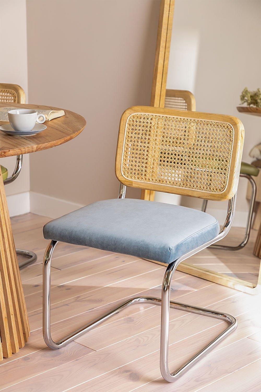 Cadeira de jantar de veludo vintage Tento, imagem de galeria 1