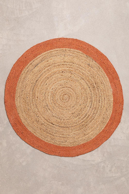 Tapete redondo de juta natural Dagna Colors, imagem de galeria 1