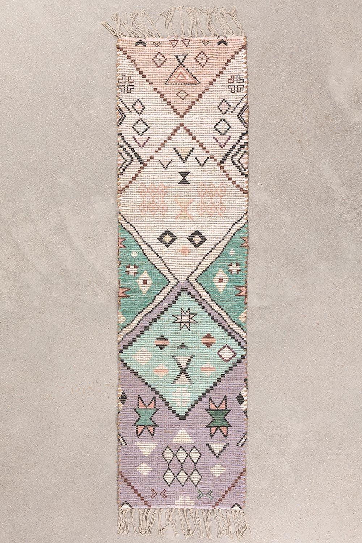 Tapete de corredor em juta e tecido (170x42,5 cm) Nuada, imagem de galeria 1