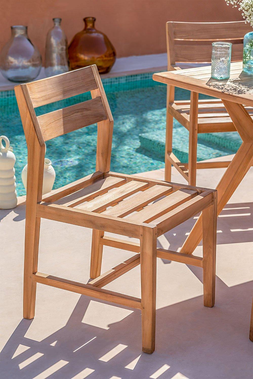 Cadeira de jardim em Yolen de madeira de teca, imagem de galeria 1
