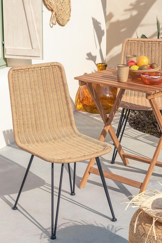 Cadeira de jardim de vime Sunset Vali, imagem de galeria 1