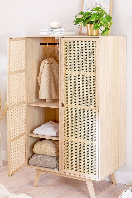Guarda-roupa de madeira estilo Ralik, imagem de galeria 1