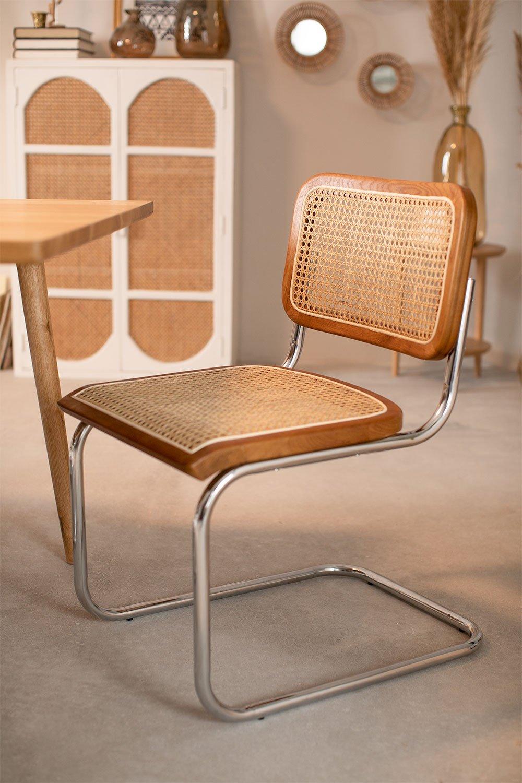 Cadeira de jantar de vime Tento, imagem de galeria 1