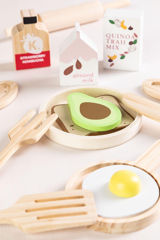 Conjunto de café da manhã de madeira para crianças Acatte, imagem de galeria 1