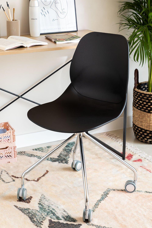 Cadeira de Escritório com Rodas Tech, imagem de galeria 1