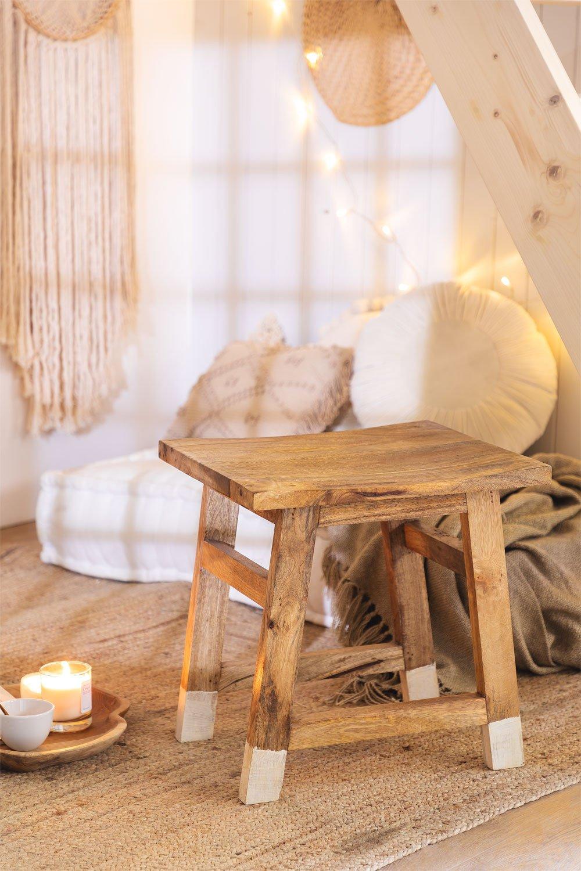 Banqueta baixa de madeira, imagem de galeria 1