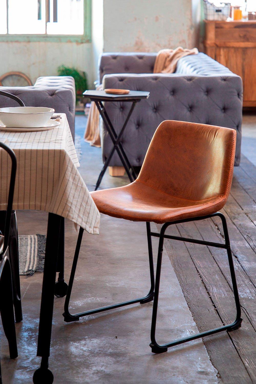 Cadeira Forrada em Pele Sintética Ody , imagem de galeria 1