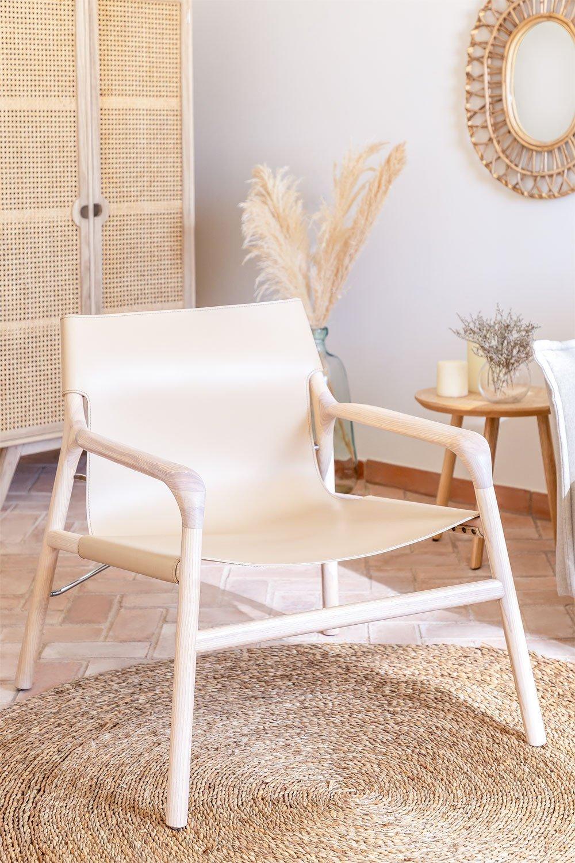 Cadeira Leges de couro sintético com braços, imagem de galeria 1